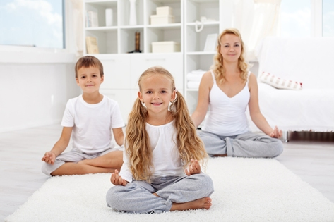 Mommy and child yoga